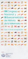 Cartel XX Congreso Nacional y XI Iberoamericano de Historia de la Veterinaria.