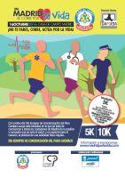 Cartel En Madrid se Corre por la Vida - 16 de Octubre de 2016