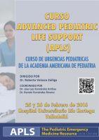 Cartel Curso Advanced Pediatric Life Suport (APLS).