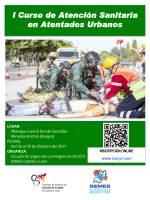 Cartel I Curso de Atención Sanitaria en Atentados Urbanos.