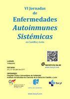 cartel VI Jornadas de Enfermedades Autoinmunes Sistémicas en Castilla y León.