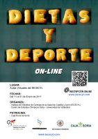 Cartel Curso Dietas y Deporte.
