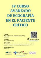 Cartel IV Curso Avanzado de Ecografía en el Paciente Crítico.