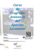 Cartel Curso Avanzado de Ecografía del Aparato Locomotor.