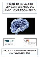 Cartel II Curso de Simulación Clínica en el Manejo del Paciente con Hiponatremia.