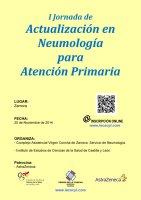 Cartel I Jornada de Actualización en Neumología para Atención Primaria.