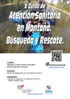 Cartel X Curso de Atención Sanitaria en Montaña. Búsqueda y Rescate.