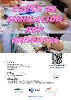 Cartel Curso de Simulación RCP Neonatal.