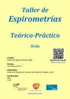 Cartel Taller de Espirometrías Teórico-Práctico. Ávila.