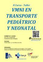 Cartel II Curso-Taller VMNI en Trasporte Pediátrico y Neonatal.