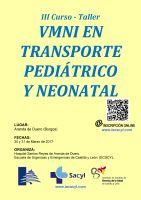 Cartel III Curso-Taller VMNI en Trasporte Pediátrico y Neonatal.
