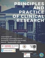 Máster Principles and Practice of Clinical Research