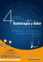 CartelIV Congreso Internacional Fisioterapia y Dolor