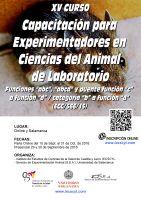 XV Curso de Capacitación para Experimentadores en Ciencias del Animal Laboratorio.
