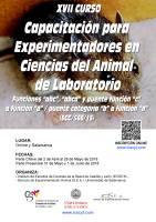 Cartel XVII Curso de Capacitación para Experimentadores en Ciencias del Animal Laboratorio.