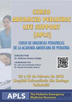 Cartel Curso Advanced Pediatric Life Suport (APLS).