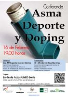 Cartel Conferencia: Asma, Deporte y Doping.