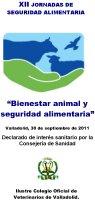 Cartel XII Jornadas de Seguridad Alimentaria. Jornada Bienestar Animal y Seguridad Alimentaria