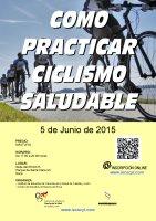 Cartel Cómo Practicar Ciclismo Saludable.
