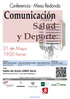 Cartel Conferencia-Mesa Redonda: Comunicación, Salud y Deporte