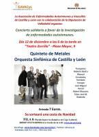 Cartel II Concierto Solidario a favor de la investigación de enfermedades autoinmunes