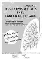 Cartel Conferencia Perspectivas Actuales en el Cáncer de Pulmón.