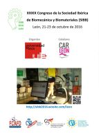 Cartel XXXIX Congreso Sociedad Ibérica de Biomecánica y Biomateriales