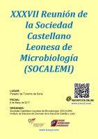 Cartel XXXVII Reunión de la Sociedad Castellano Leonesa de Microbiología - Curso Microbiología 2017.
