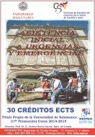 Cartel Diploma de Especialización en asistencia inicial a urgencias y emergencias (Semi-presencial). 17ª Promoción. Título Propio de la Universidad de Salamanca.
