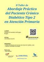 Cartel II Taller de Abordaje Práctico del Paciente Crónico Diabético Tipo 2 en Atención Primaria.