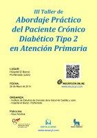 Cartel III Taller de Abordaje Práctico del Paciente Crónico Diabético Tipo 2 en Atención Primaria.