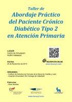 Cartel Taller de Abordaje Práctico del Paciente Crónico Diabético Tipo 2 en Atención Primaria.