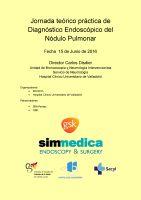 Cartel Jornada teórico práctica de Diagnóstico Endoscópico del Nódulo Pulmonar.