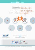 Cartel VIII Jornadas de Actualización en Donación de Órganos y Tejidos