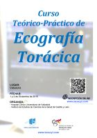 Cartel Curso Teórico-Práctico de Ecografía Torácica.