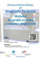 Cartel II Curso Teórico-Práctico de Ecografía Torácica. Módulo I. Ecografía torácica y vascular diagnóstica.