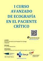 Cartel I Curso Avanzado de Ecografía en el Paciente Crítico.