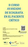 Cartel II Curso Avanzado de Ecografía en el Paciente Crítico.
