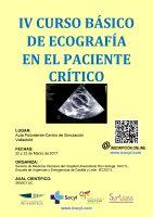Cartel IV Curso Básico de Ecografía en el Paciente Crítico.