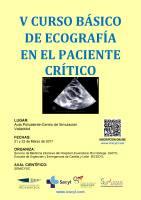 Cartel V Curso Básico de Ecografía en el Paciente Crítico.