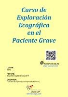 Cartel Curso de Exploración Ecográfica en el Paciente Grave.