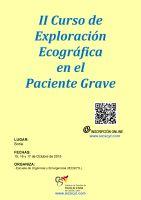 Cartel II Curso de Exploración Ecográfica en el Paciente Grave.