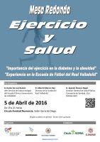 Cartel Mesa Redonda: Ejercicio y Salud.