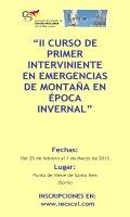 Cartel II Curso de Primer Interviniente en Emergencias de Montaña en Época Invernal
