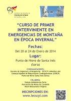 Cartel III Curso de Primer Interviniente en Emergencias de Montaña en Época Invernal.