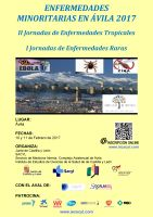 Cartel Jornadas Enfermedades Minoritarias en Ávila 2017.