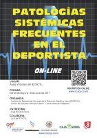 Cartel Curso Patologías Sistémicas Frecuentes en el Deportista.