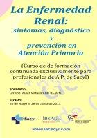 Curso La Enfermedad Renal: síntomas, diagnóstico y prevención en atención primaria