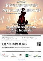 Cartel Conferencia: El entrenamiento físico tras el infarto de miocardio.