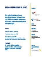 Cartel Sesión Formativa: Actualización Abordaje Integral del Paciente con EPOC. Ávila.